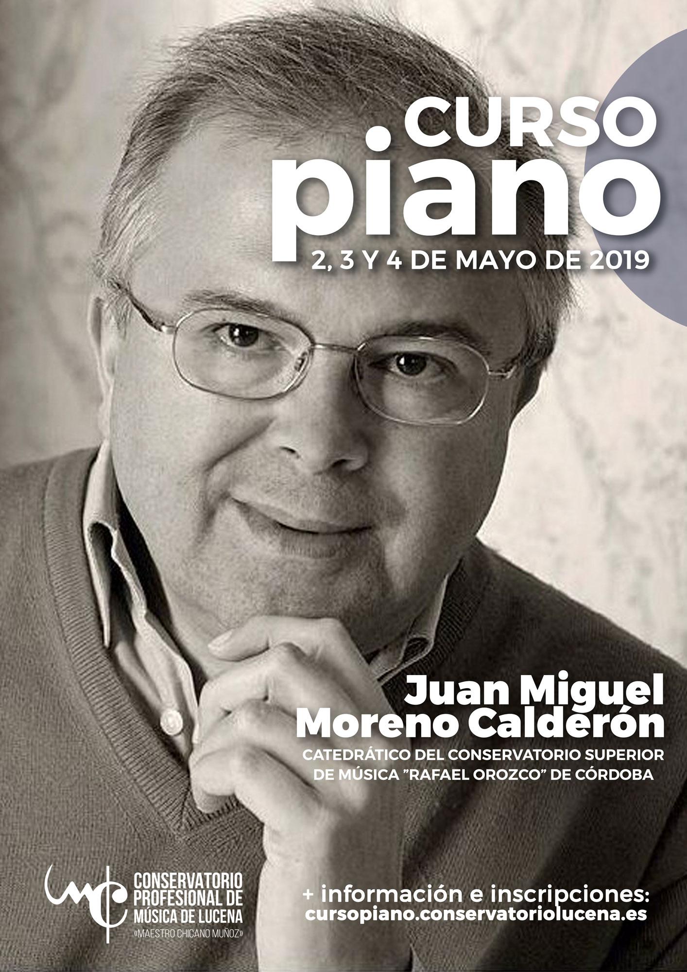 Curso de piano impartido por Juan Miguel Moreno Calderón